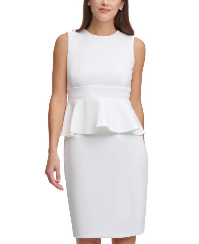 Calvin Klein Peplum Sheath Dress & Reviews - Dresses - Women - Macy's