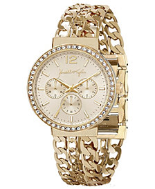 Women's Kendall + Kylie Triple Link Gold Tone Stainless Steel Strap Analog Watch 40mm