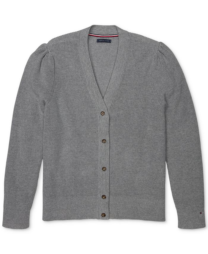 Tommy Hilfiger - Puff-Shoulder Cardigan with Magnetic Buttons
