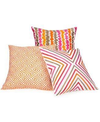 Decorative Pillows Trina Turk : Trina Turk Bedding, Trellis Coral Decorative Pillows - Decorative Pillows - Bed & Bath - Macy s