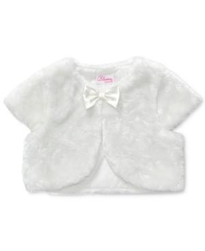 Bloome - Kids Shrug, Girls Faux-Fur Bolero Jacket