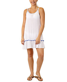 Miken Juniors' Adjustable Pom-Pom-Trim Cover-Up, Created for Macy's