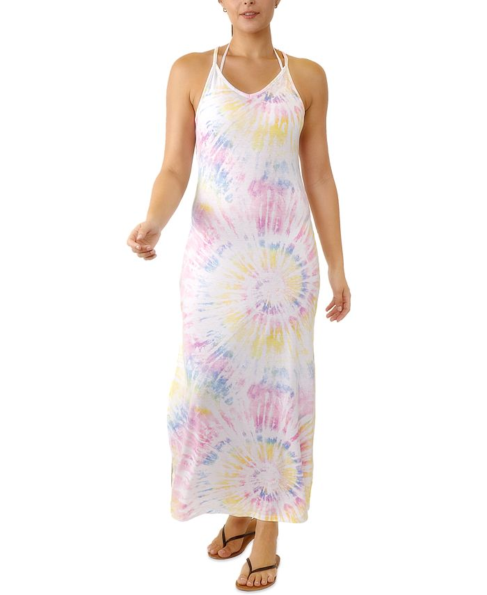 Miken - Juniors' V-Neck Maxi Cover-Up Dress, Created for Macy's