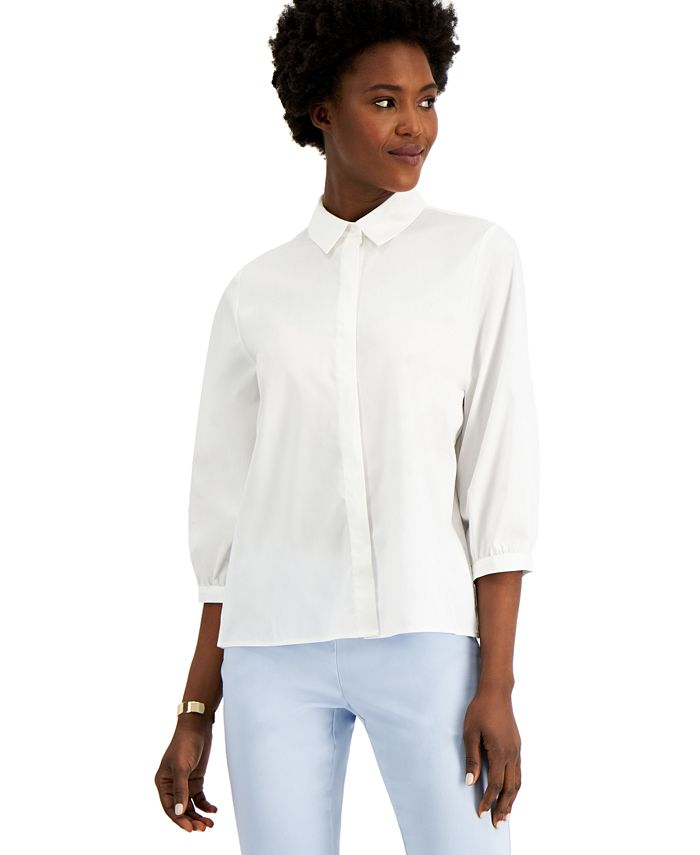 Alfani - Pleat-Back Blouse, Created for Macy's
