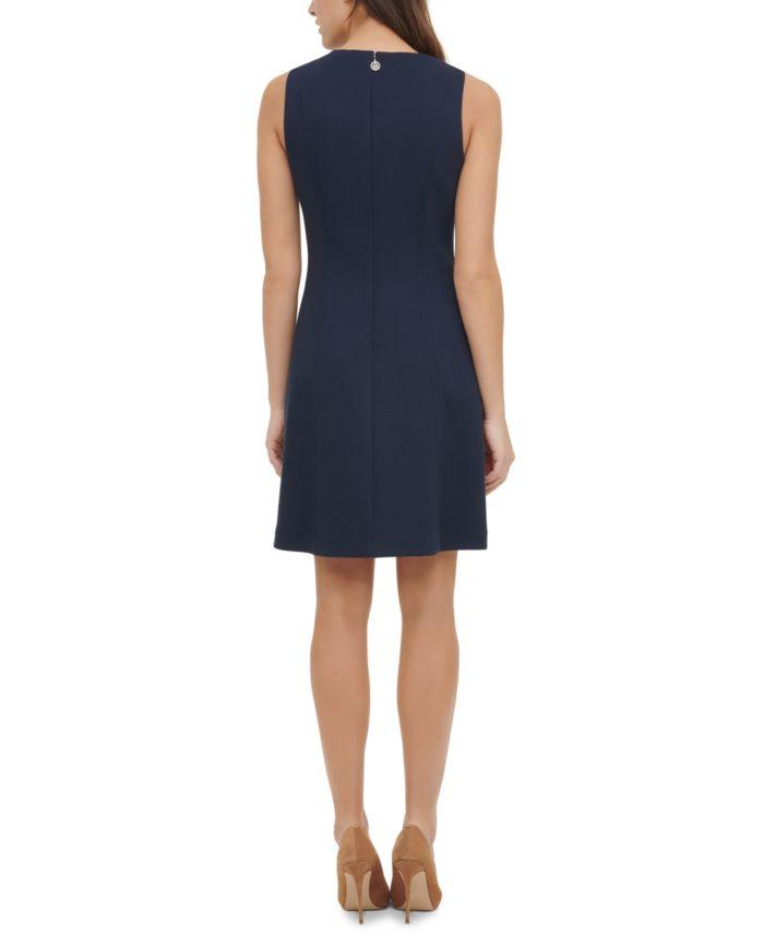 Tommy Hilfiger Petite Scuba A-Line Dress  & Reviews - Dresses - Petites - Macy's