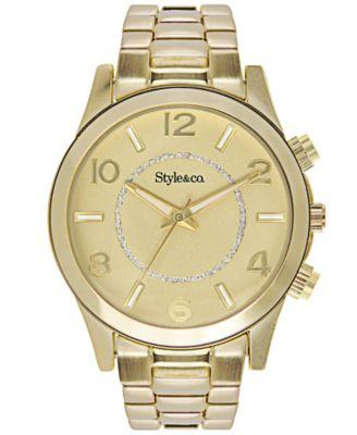 style co s gold tone bracelet sc1284