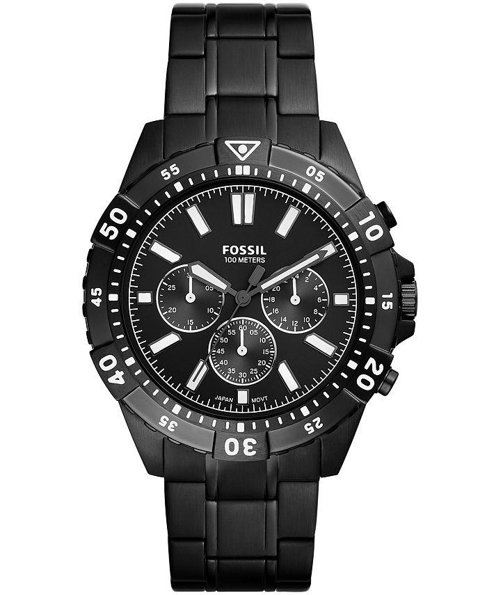 Fossil - Men's Garrett Black Bracelet Watch 44mm