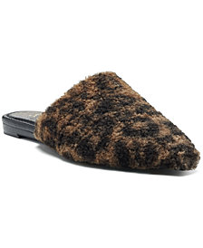 Vince Camuto Women's Vameera Faux-Shearling Slippers