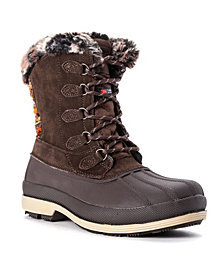 Propét Women's Lumi Tall Lace Water Resistant Cold Weather Boots