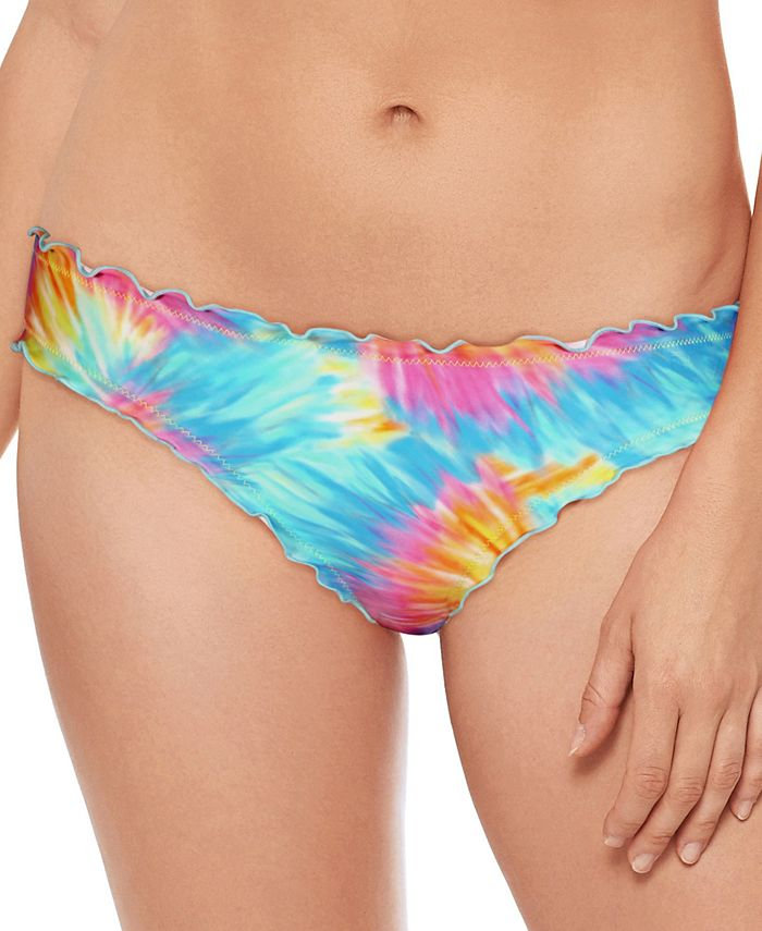 Salt + Cove - Tie-Dyed Ruffled Hipster Swimsuit