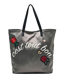 Like Dreams Reversible Embroidery Tote Bag