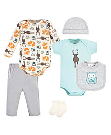 Hudson Baby Boys and Girls Cotton Layette Set