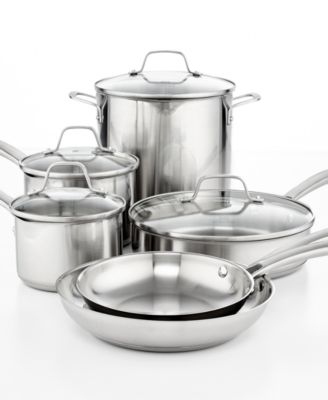 Calphalon Classic Stainless Steel 10 Piece Cookware Set