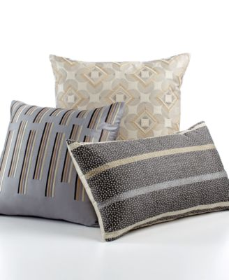 "Hotel Collection Modern Colonnade 14"" x 24"" Decorative Pillow"
