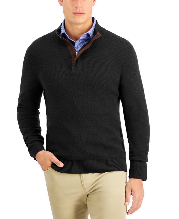 Tasso Elba - Men's Quarter-Zip Sweater