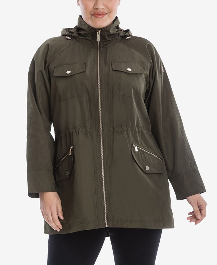 Michael Kors - Plus Size Hooded Anorak