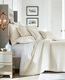 Hotel Collection Hydrangea Velvet Coverlet, Created for Macy's
