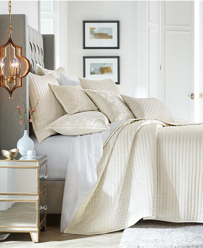 Hotel Collection - Hydrangea Velvet Coverlet, Created for Macy's