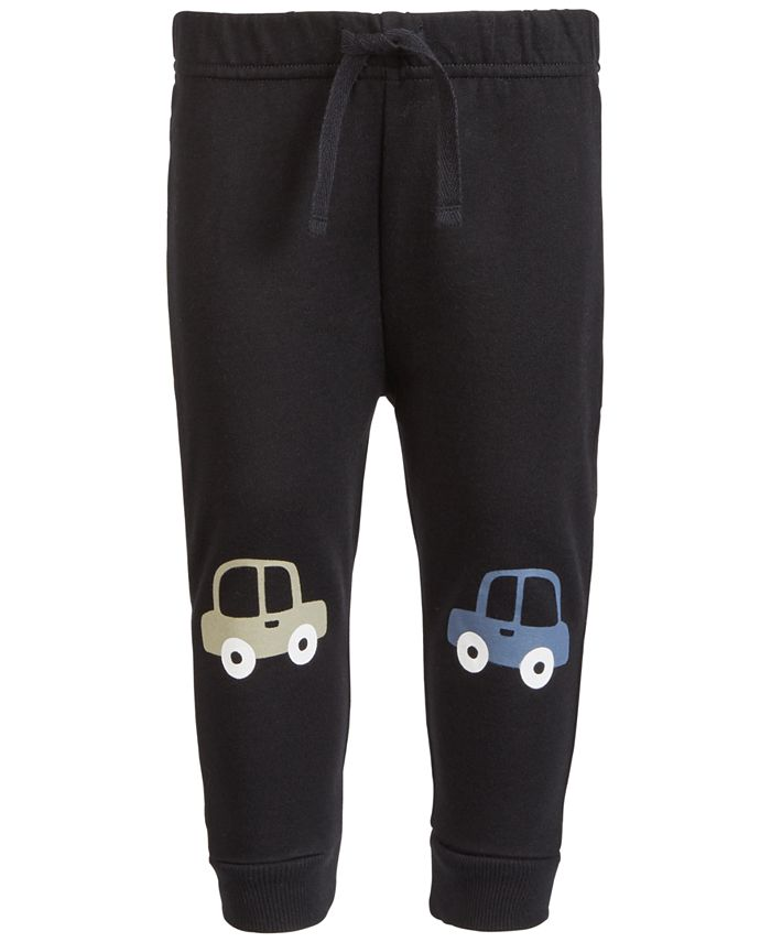First Impressions - Baby Boys Car Knee-Patch Jogger Pants