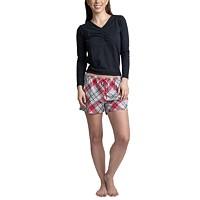 Muk Luks Top Pants & Boxer Shorts 3pc Pajama Gift Set Deals