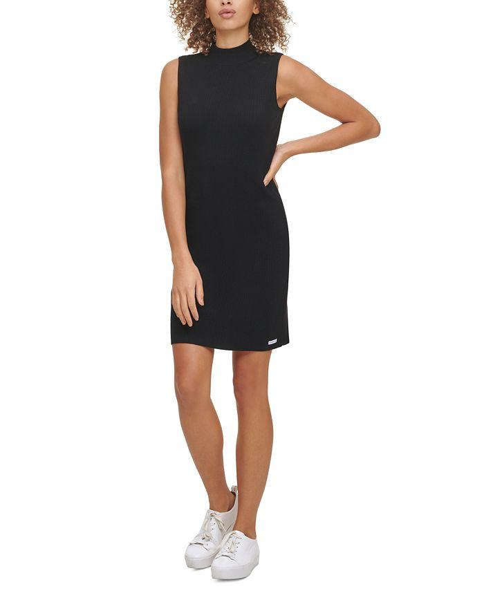 Calvin Klein Jeans - Sleeveless Mock-Neck Sweater Dress