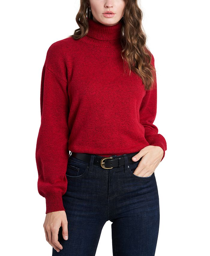 1.STATE - Open Back Turtleneck Sweater