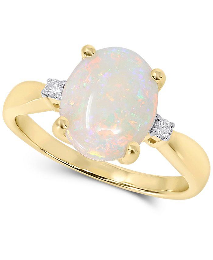 Macy's - Opal (1-3/4 ct. t.w.) & Diamond Accent Ring in 14k Gold