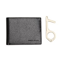 Perry Ellis Portfolio Men's Saffiano Faux-Leather Bifold Wallet