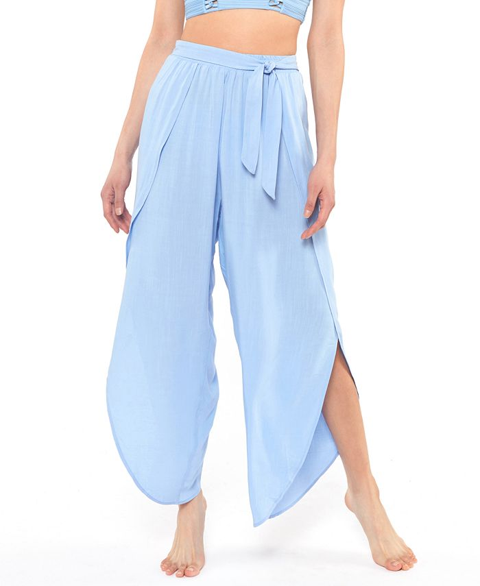 Jessica Simpson - Solid Tie-Waist Cover-Up Beach Pants