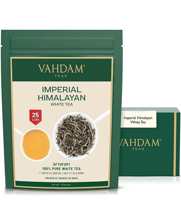 Vahdam Teas Imperial Himalayan White Tea Leaves, Rare Extraordinary, 25 Servings