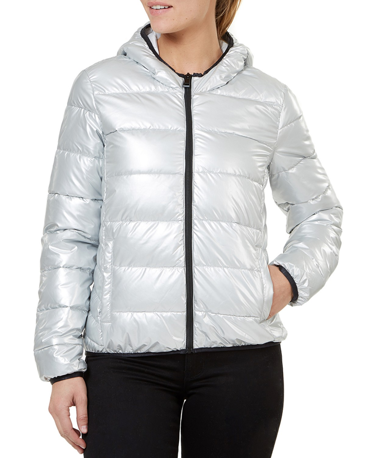 Quilted Hooded Packable Jacket $19.99 (80% off)