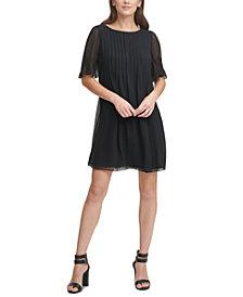 DKNY Pleated Shift Dress