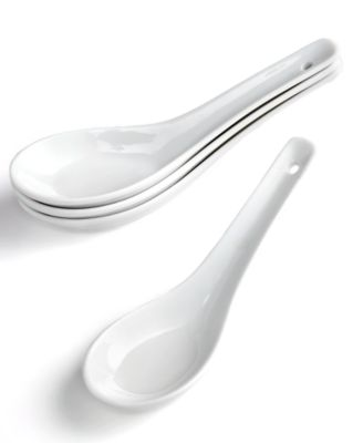 The Cellar Set of 4 Whiteware Tasting Spoons