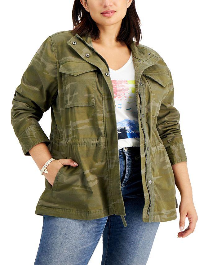 Style & Co - Plus Size Cotton Utility Jacket