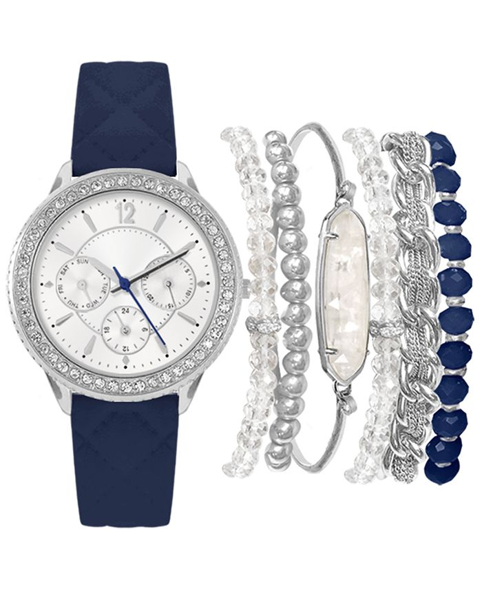 Jessica Carlyle - Women's Navy Strap Watch 36mm