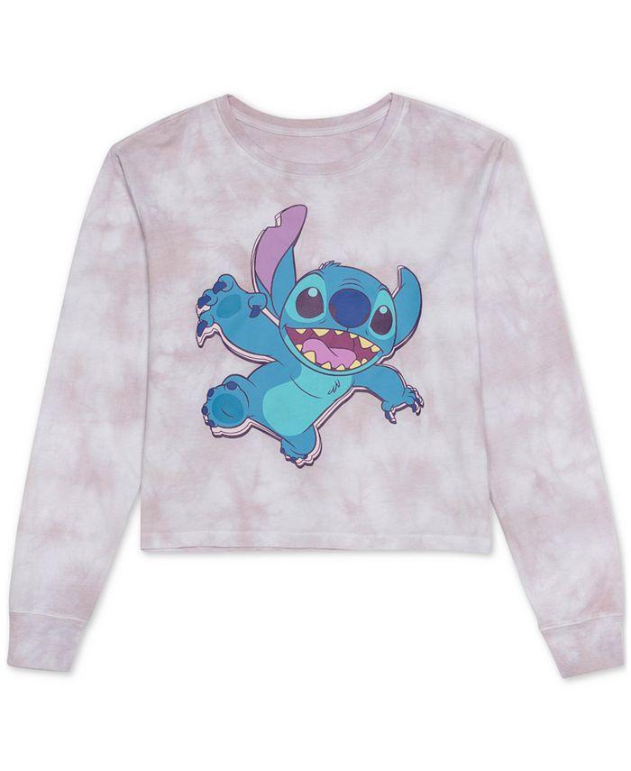 Disney - Juniors' Stitch Tie-Dyed Top