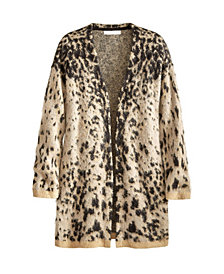 Adyson Parker Women's Spotted Fuzzy Drop Shoulder Cardigan