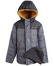 Free Country Little Boys Puffer Coat & Beanie