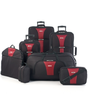 travel select creekside 7 piece spinner luggage set