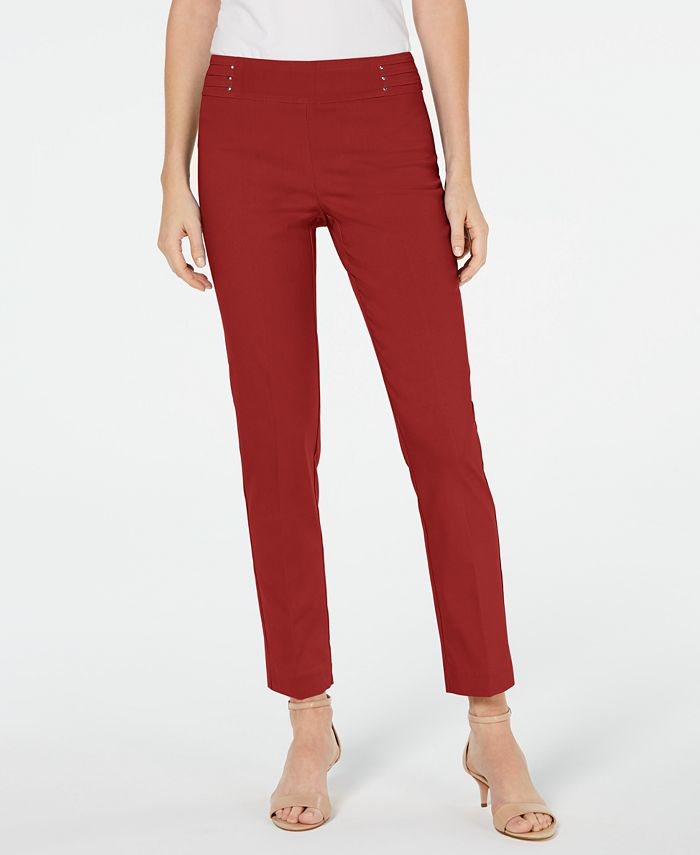 JM Collection - Petite Studded Pull-On Pant
