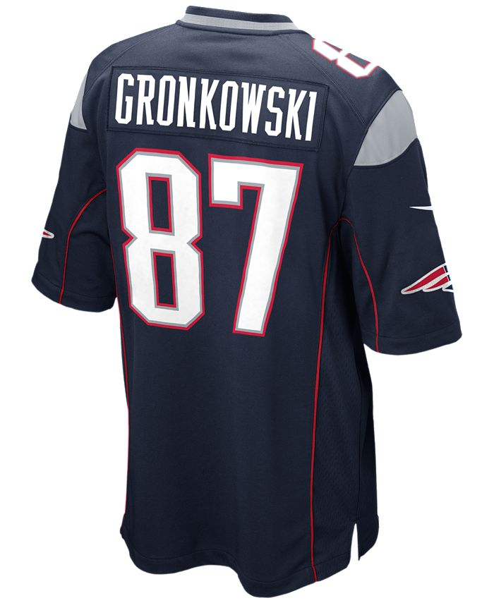 Nike Men's Rob Gronkowski New England Patriots Game Jersey ...
