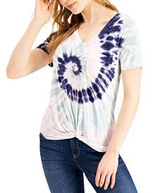 Self Esteem Juniors' Twist-Front Pocket T-Shirt