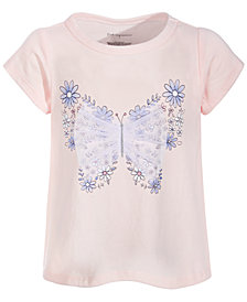First Impressions Toddler Girls Flower Butterfly Cotton T-Shirt, Created for Macy's