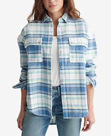Lucky Brand Plaid Boyfriend Shirt