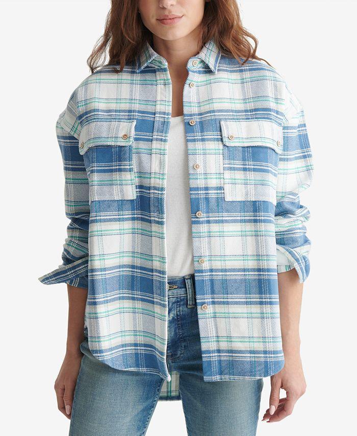 Lucky Brand - Plaid Boyfriend Shirt