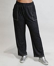 Women's Plus Size Cozy Contrast Stitch Pant