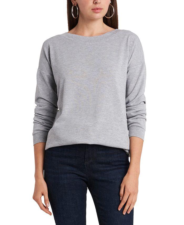 1.STATE - Dropped-Shoulder Cross-Back Sweatshirt