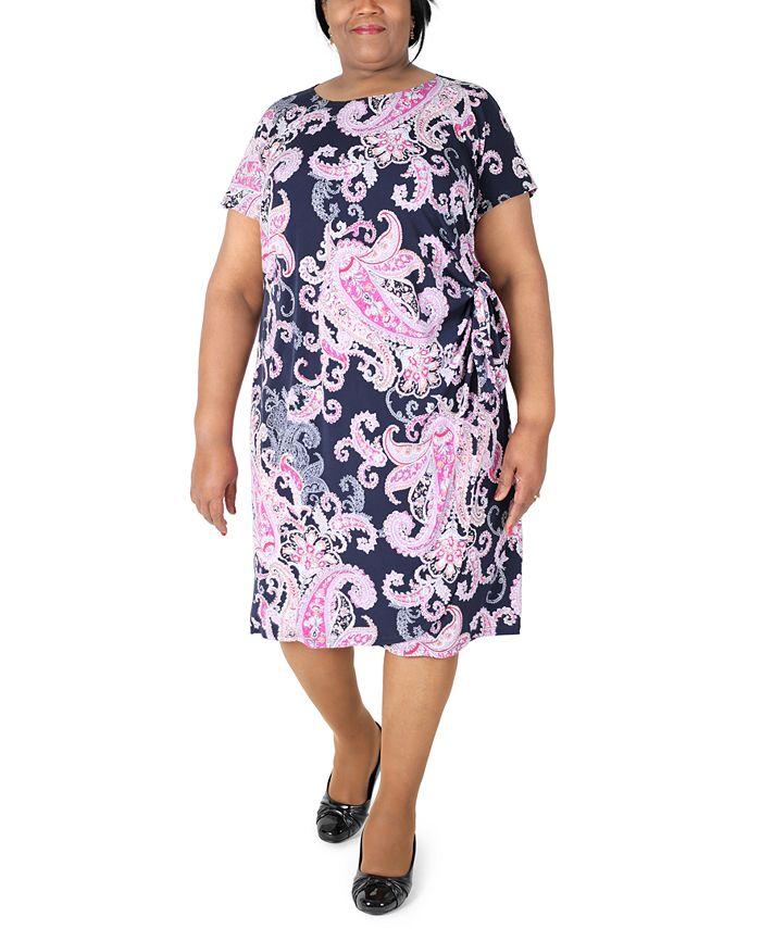 Robbie Bee - Plus Size Printed Sheath Dress