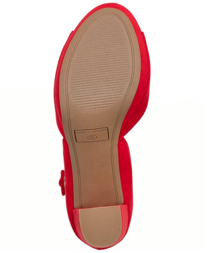 Sun + Stone Reeta Block-Heel Platform Sandals, Created for Macy's & Reviews - Sandals - Shoes - Macy's