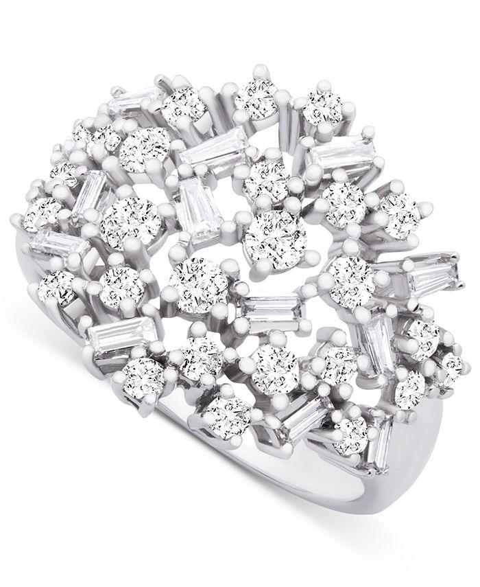Macy's - Diamond Scatter Cluster Ring (1 ct. t.w.) in 14k White Gold